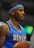 March 29th, 2010  <br /> Denver Nuggets forward Carmelo Anthony #15 upset as his team struggles in a game between the Denver Nuggets and the Dallas Mavericks at the American Airlines Center in Dallas, Texas.<br /> Dallas wins 109-93