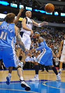 March 29th, 2010   Dallas Mavericks guard Jason Kidd #2 passes the ball for an assist in a game between the Denver Nuggets and the Dallas Mavericks at the American Airlines Center in Dallas, Texas. Dallas wins 109-93