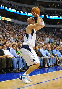 March 29th, 2010   Dallas Mavericks guard Jason Kidd #2 shoots a 3-pointer in a game between the Denver Nuggets and the Dallas Mavericks at the American Airlines Center in Dallas, Texas. Dallas wins 109-93