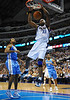 March 29th, 2010  <br /> Dallas Mavericks center Brendan Haywood #33 gets a dunk<br /> in a game between the Denver Nuggets and the Dallas Mavericks at the American Airlines Center in Dallas, Texas.<br /> Dallas wins 109-93