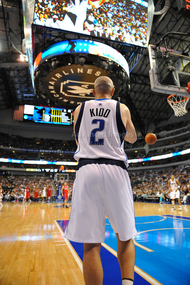 March 23rd, 2010  <br /> Dallas Mavericks guard Jason Kidd #2 inbounds the ball<br /> in a game between the Los Angeles Clippers and the Dallas Mavericks at the American Airlines Center in Dallas, Texas.<br /> Dallas wins 106-96