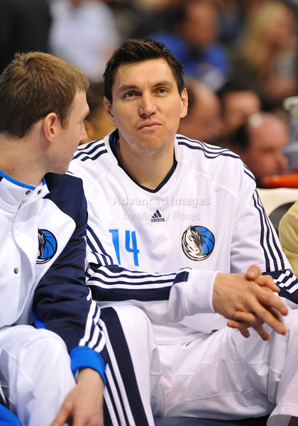 March 23rd, 2010  <br /> Dallas Mavericks forward Eduardo Najera #14 on the sidlines<br /> in a game between the Los Angeles Clippers and the Dallas Mavericks at the American Airlines Center in Dallas, Texas.<br /> Dallas wins 106-96