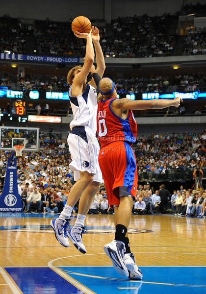March 23rd, 2010  <br /> Dallas Mavericks forward Dirk Nowitzki #41 shoots the ball<br /> in a game between the Los Angeles Clippers and the Dallas Mavericks at the American Airlines Center in Dallas, Texas.<br /> Dallas wins 106-96