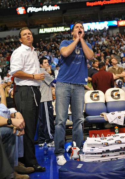 March 23rd, 2010  <br /> Dallas Mavericks Owner Mark Cuban yells at  the referee for ejecting Dirk early in the 3rd period in a game between the Los Angeles Clippers and the Dallas Mavericks at the American Airlines Center in Dallas, Texas.<br /> Dallas wins 106-96