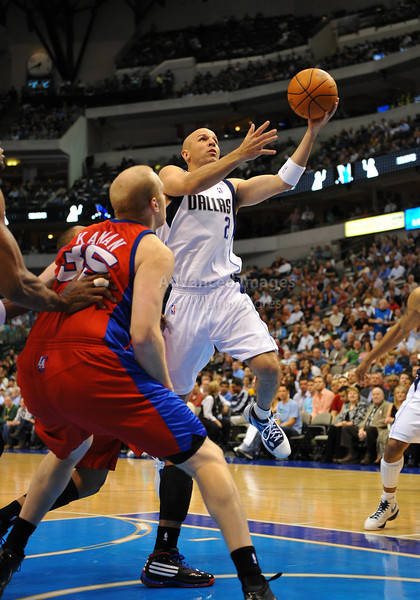 March 23rd, 2010  <br /> Dallas Mavericks guard Jason Kidd #2 drives to the basket<br /> in a game between the Los Angeles Clippers and the Dallas Mavericks at the American Airlines Center in Dallas, Texas.<br /> Dallas wins 106-96
