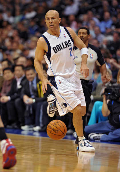 March 23rd, 2010  <br /> Dallas Mavericks guard Jason Kidd #2 directs his teammates <br /> in a game between the Los Angeles Clippers and the Dallas Mavericks at the American Airlines Center in Dallas, Texas.<br /> Dallas wins 106-96