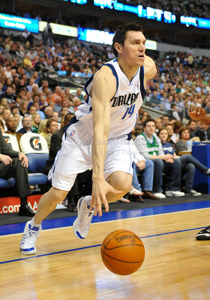 March 23rd, 2010  <br /> Dallas Mavericks forward Eduardo Najera #14 drives to the basket<br /> in a game between the Los Angeles Clippers and the Dallas Mavericks at the American Airlines Center in Dallas, Texas.<br /> Dallas wins 106-96