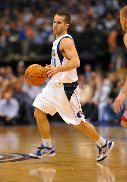 March 23rd, 2010  <br /> Dallas Mavericks guard Jose Juan Barea #11 dribbles the ball<br /> in a game between the Los Angeles Clippers and the Dallas Mavericks at the American Airlines Center in Dallas, Texas.<br /> Dallas wins 106-96