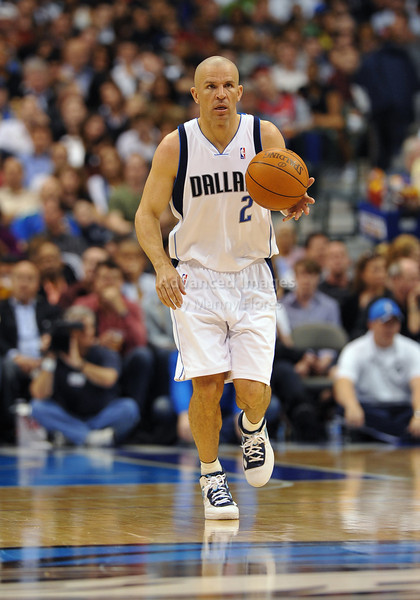 March 23rd, 2010  <br /> Dallas Mavericks guard Jason Kidd #2 brings the ball forward<br /> in a game between the Los Angeles Clippers and the Dallas Mavericks at the American Airlines Center in Dallas, Texas.<br /> Dallas wins 106-96