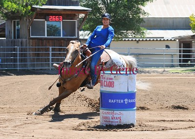 NBHA Open Barrel Race July 14th. 2019 At Rafter D Ranch