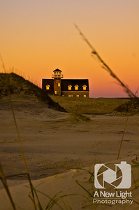 Old Oregon Inlet Coast Guard Station at Dawn - North Carolina Collection