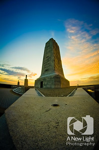 Sunset behind the Wright Brothers Memorial - North Carolina Collection