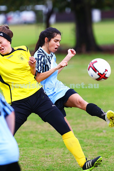 5-6-16. North Caulfield Maccabi Women FC def South Springvale 4 - 0 at Caulfield Park. Photo: Peter Haskin