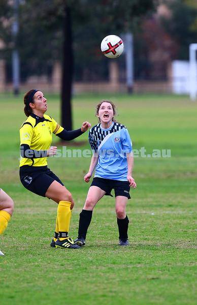 5-6-16. North Caulfield Maccabi Women FC def South Springvale 4 - 0 at Caulfield Park. Photo: Peter Haskin