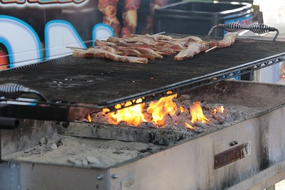 The grills are all fired up and ready to go...