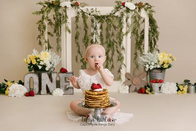 Strawberry Pancake Cake Smash Raleigh NC