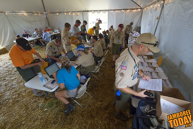 Staff Arrives at the 2013 National Scout Jamboree
