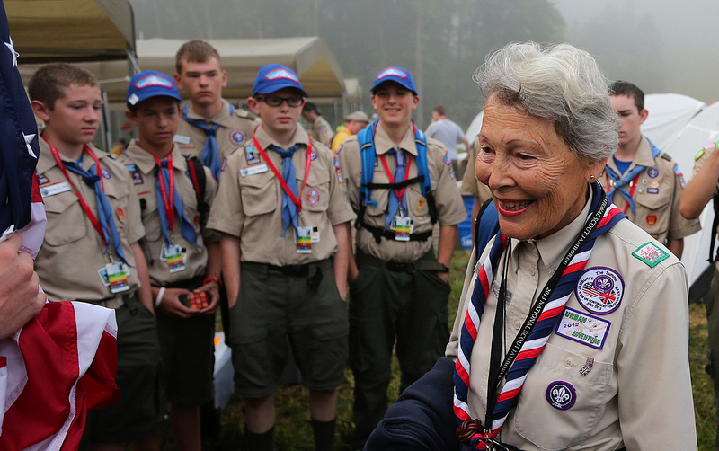 Baden-Powell's Granddaughter Joins Scouts for Breakfast