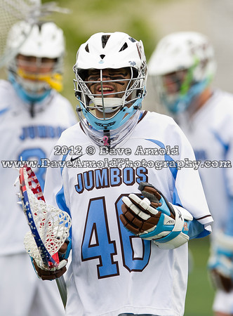 Tufts University defeated Bowdoin College 9-8, in overtime, to win their third consecutive NESCAC Men's Lacrosse Title on May 6th, 2012, at Tufts University in Medford, Massachusetts.