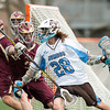 Tufts University Mens Lacrosse defeated Norwich 26-4 on May 8, 2013, in the first round of the NCAA D3 Lacrosse Tournament at Tufts University in Medford, Massachusetts.