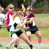 Danielle Ayers (Union - 3), Haley Gould (Union - 18) - The Union College women's lacrosse team  defeated Skidmore College 9-8, in overtime, on April 14th, 2012, at Skidmore College in Saratogo Springs, New York.