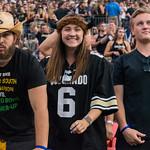 The Rocky Mountain Showdown NCAA Football game between the University of Colorado Buffaloes (CU) and the Colorado State University Rams (CS) at Sports Authority Field in Denver, Colorado.  Final score of the game was CU Buffaloes - 17  and the CSU Rams - 3.