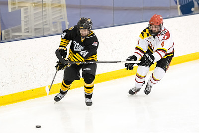 Maryland vs Towson during the 2018 Crab Pot Tournament at the McMullen Ice Arena in Annapolis, Maryland on 2/9/2018. (Photo: Michael McSweeney for USNA).