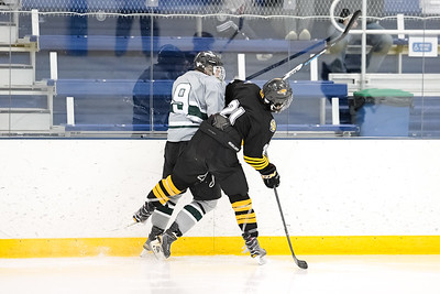 Towson vs Wagner during the 2018 Crab Pot Tournament at the McMullen Ice Arena in Annapolis, Maryland on 2/10/2018. (Photo: Michael McSweeney for USNA).