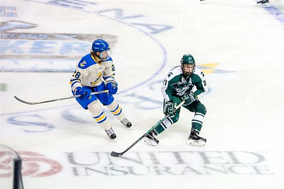 Michigan State vs Lake Superior State in game one during the final day of the 2015 Annual NCAA Ice Breaker Tournament. Maine is hosting the 19th Annual NCAA Ice Breaker Tournament at the Cross Insurance Arena in Portland, Maine on 10/10/2015. (Photo by Michael McSweeney/Portland Pirates).