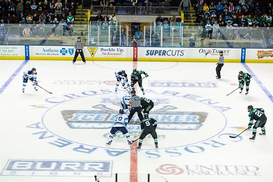 North Dakota vs University of Maine in game two of the final day during the 2015 Annual NCAA Ice Breaker Tournament. Maine is hosting the 19th Annual NCAA Ice Breaker Tournament at the Cross Insurance Arena in Portland, Maine on 10/10/2015. (Photo by Michael McSweeney/Portland Pirates).