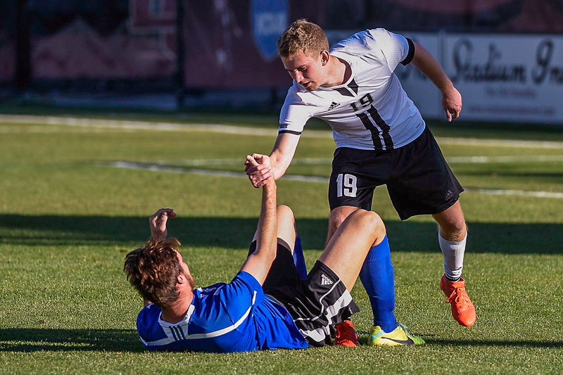 The Summit League Tournament Semifinal soccer game between Omaha and Eastern Illinois at CIBER Field on the campus of the University of Denver in Denver, Colorado.   Final score of the game  was Omaha - 3 and Eastern Illinois - 1.