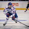 UMass Lowell's Ryan Dmowski races down the rink in their NCAA Regional Final game against Notre Dame. SUN/Caley McGuane