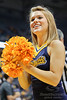 A Marquette cheerleader during the game between the Marquette Golden Eagles and the Bucknell Bison at the Bradley Center in Milwaukee, WI.  Marquette defeated Bucknell 72-61. Mandatory Credit: John Rowland / Southcreek Global