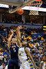 Bucknell forward Colin Klebon (5) shoots over Marquette forward Davante Gardner (54) during the game between the Marquette Golden Eagles and the Bucknell Bison at the Bradley Center in Milwaukee, WI.  Marquette defeated Bucknell 72-61. Mandatory Credit: John Rowland / Southcreek Global