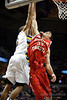 Marquette guard Vander Blue (2) is fouled by South Dakota forward Ricardo Andreotti (32) while going up for a dunk during the game between the Marquette Golden Eagles and the South Dakota Coyotes at the Bradley Center in Milwaukee, WI.  Marquette defeated South Dakota 82-69.   Mandatory Credit: John Rowland / Southcreek Global