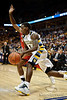 Marquette guard Darius Johnson-Odom (1) drives the baseline during the game between the Marquette Golden Eagles and the South Dakota Coyotes at the Bradley Center in Milwaukee, WI.  Marquette defeated South Dakota 82-69.   Mandatory Credit: John Rowland / Southcreek Global
