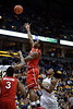 St. John's forward Justin Burrell (24) makes a basket during the game between the Marquette Golden Eagles and the St. John's Red Storm at the Bradley Center in Milwaukee, WI. St. John's defeated Marquette 80-68.   Mandatory Credit: John Rowland / Southcreek Global