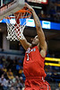 St. John's forward D.J. Kennedy (1) dunks the ball during the game between the Marquette Golden Eagles and the St. John's Red Storm at the Bradley Center in Milwaukee, WI. St. John's defeated Marquette 80-68.   Mandatory Credit: John Rowland / Southcreek Global