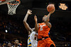 Syracuse forward C.J. Fair (5) makes a basket over Marquette center Chris Otule (42) during the game between the Marquette Golden Eagles and the Syracuse Orange at the Bradley Center in Milwaukee, WI. Marquette defeated Syracuse 76-70.   Mandatory Credit: John Rowland / Southcreek Global
