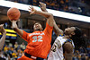 Syracuse forward Kris Joseph (32) goes up for a basket over Marquette forward Jae Crowder (32) during the game between the Marquette Golden Eagles and the Syracuse Orange at the Bradley Center in Milwaukee, WI. Marquette defeated Syracuse 76-70.   Mandatory Credit: John Rowland / Southcreek Global