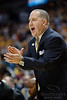 Marquette head coach Buzz Williams shouts encouragement during the game between the Marquette Golden Eagles and the Syracuse Orange at the Bradley Center in Milwaukee, WI. Marquette defeated Syracuse 76-70.   Mandatory Credit: John Rowland / Southcreek Global
