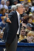Syracuse head coach Jim Boeheim argues a call during the game between the Marquette Golden Eagles and the Syracuse Orange at the Bradley Center in Milwaukee, WI. Marquette defeated Syracuse 76-70.   Mandatory Credit: John Rowland / Southcreek Global