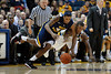 West Virginia forward John Flowers (41) battles with Marquette forward Jimmy Butler (33) for a loose ball during the game between the Marquette Golden Eagles and the West Virginia Mountaineers at the Bradley Center in Milwaukee, WI. Marquette defeated West Virginia 79-74.   Mandatory Credit: John Rowland / Southcreek Global
