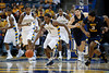 Marquette guard Darius Johnson-Odom (1) heads downcourt on a fast break during the game between the Marquette Golden Eagles and the West Virginia Mountaineers at the Bradley Center in Milwaukee, WI. Marquette defeated West Virginia 79-74.   Mandatory Credit: John Rowland / Southcreek Global
