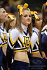 A Marquette cheerleader during the game between the Marquette Golden Eagles and the West Virginia Mountaineers at the Bradley Center in Milwaukee, WI. Marquette defeated West Virginia 79-74.   Mandatory Credit: John Rowland / Southcreek Global
