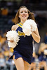 A Marquette cheerleader performs during the game between the Marquette Golden Eagles and the West Virginia Mountaineers at the Bradley Center in Milwaukee, WI. Marquette defeated West Virginia 79-74.   Mandatory Credit: John Rowland / Southcreek Global