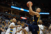 West Virginia guard Joe Mazzulla (21) drives the lane for a basket during the game between the Marquette Golden Eagles and the West Virginia Mountaineers at the Bradley Center in Milwaukee, WI. Marquette defeated West Virginia 79-74.   Mandatory Credit: John Rowland / Southcreek Global