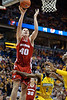 Wisconsin forward Jared Berggren (40) scores during the game between the Marquette Golden Eagles and the Wisconsin Badgers at the Bradley Center in Milwaukee, WI. Wisconsin defeated Marquette 69-64.   Mandatory Credit: John Rowland / Southcreek Global
