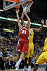 Wisconsin guard Josh Gasser (21) drives to the basket during the game between the Marquette Golden Eagles and the Wisconsin Badgers at the Bradley Center in Milwaukee, WI. Wisconsin defeated Marquette 69-64.   Mandatory Credit: John Rowland / Southcreek Global