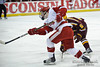 Wisconsin winger Ryan Little (20) shoots the puck during the game between the Minnesota Golden Gophers and the Wisconsin Badgers at the Kohl Center in Madison, WI.  Minnesota defeated Wisconsin 5-2.   Mandatory Credit: John Rowland / Southcreek Global